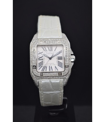 Cartier Santos 100 Medium diamond