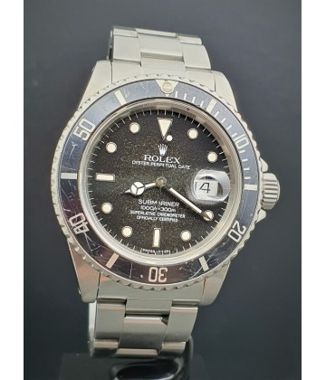 "Rolex Submariner 16800 ""Stardust Tropical dial"". 8.4 mil series, B/P"